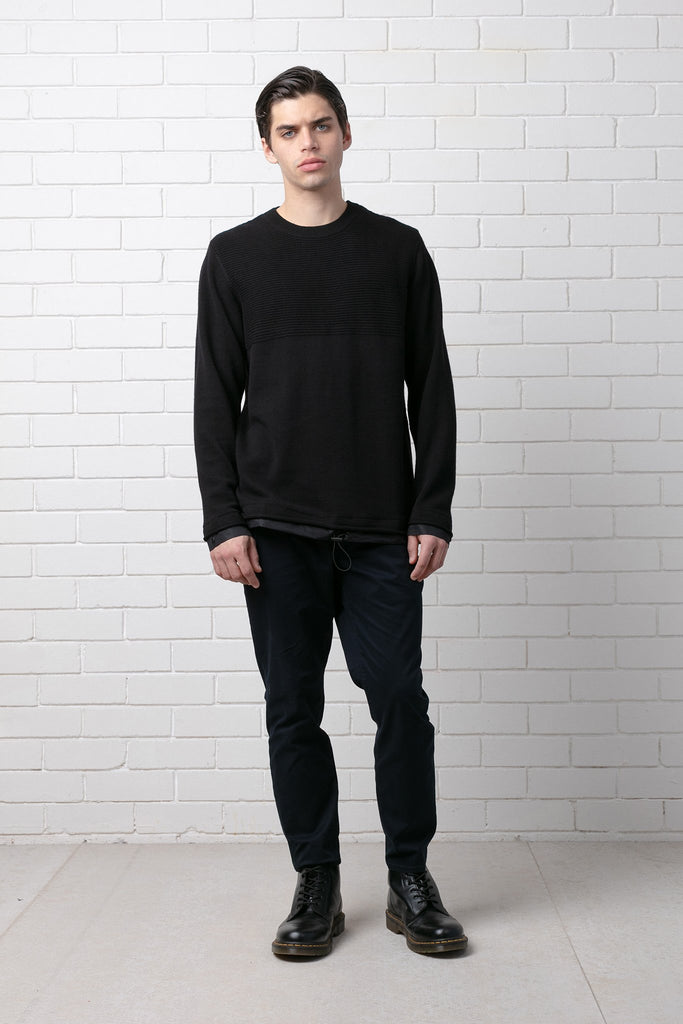 SUMIRE CONTRAST WOVEN KNIT