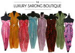 How to wear your Luxury Sarong in a variety of ways to suit you