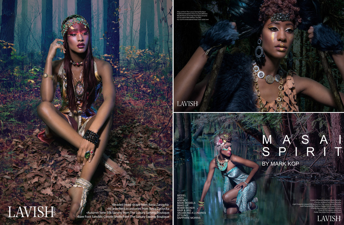 lavish mode magazine featuring silk sarongs products