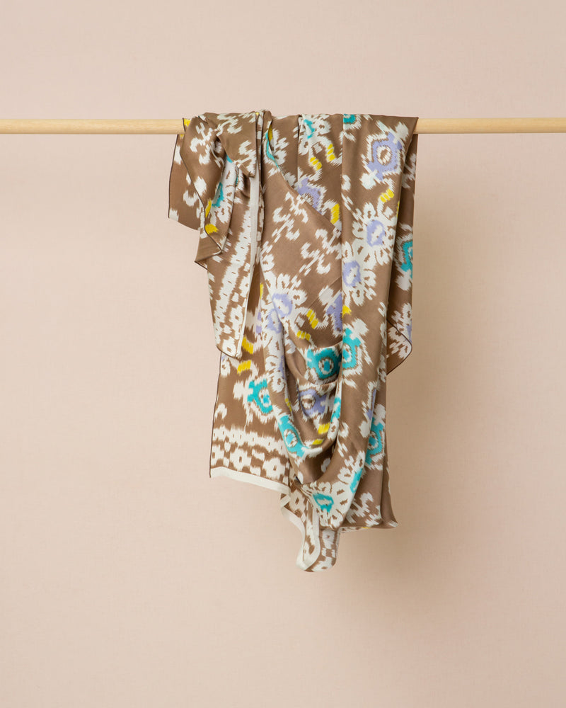 Ikat print silk sarong and scarf