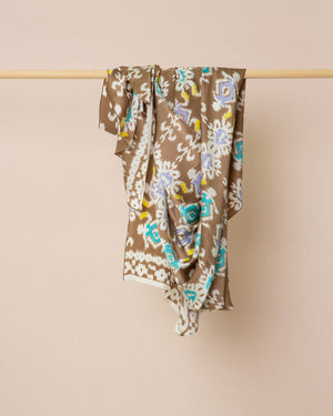 Load image into Gallery viewer, Ikat print silk sarong and scarf