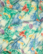 Butterfly print silk sarong and scarf