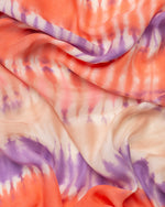Tie dye silk sarong and scarf