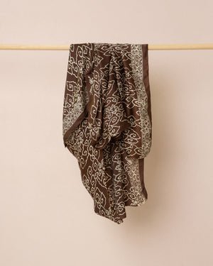 Batik print silk sarong and scarf
