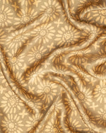 Geometric print gold silk sarong and scarf