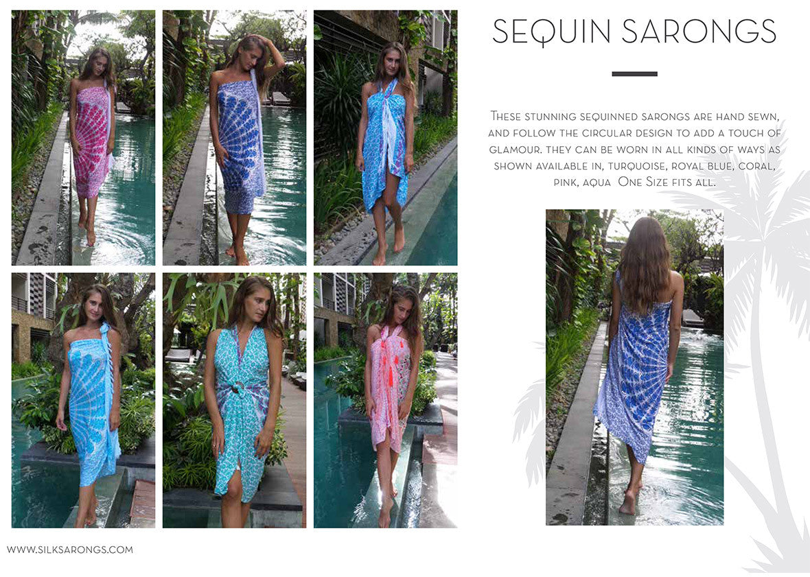 sequin sarongs