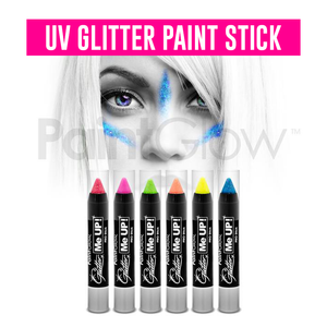 Neon UV Glitter Paint Stick Face and Body Paint Tube