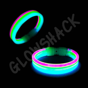 Glowing Tri-Colour Bracelet, 8 inch - GlowShack