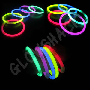 "Glowing Premium 8"" Bracelet (100 Pack) - GlowShack"