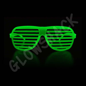 Glow in the Dark Shutter Shades - GlowShack
