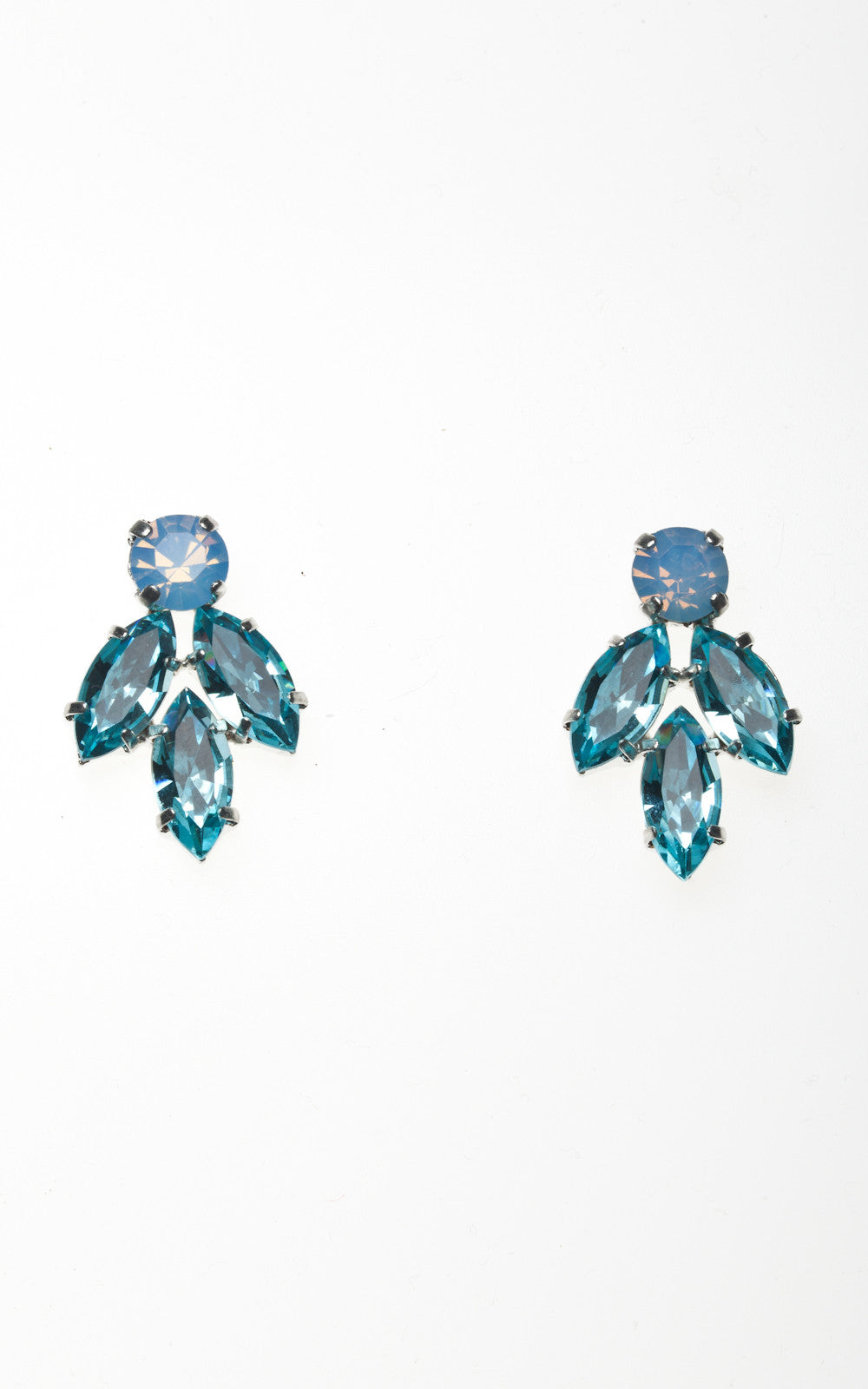 earring in sapphire earrings sterling marine aquamarine aqua halo stud white created picture of silver and