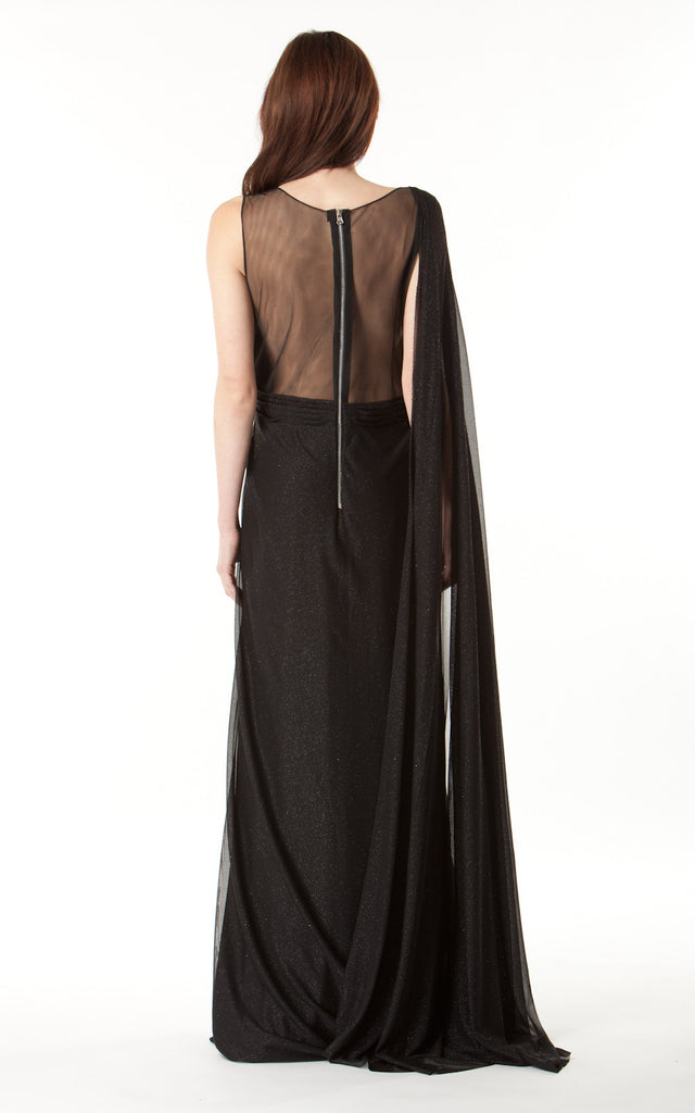 Sheer Back Gown
