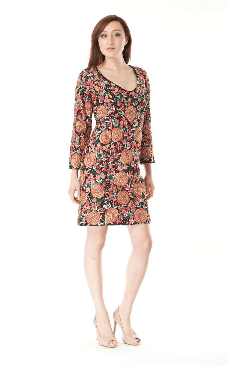 Brocade Shift Dress