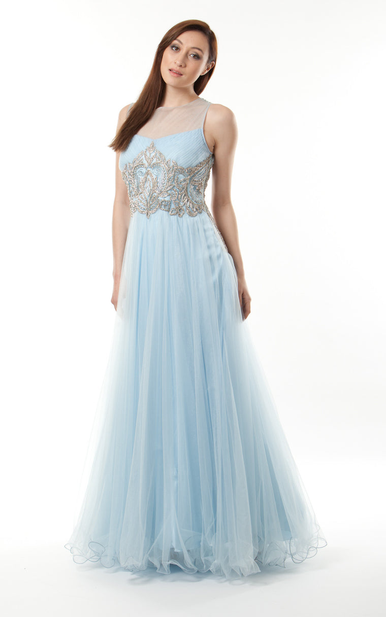 Embroidered, Sequinned and Tulle Gown