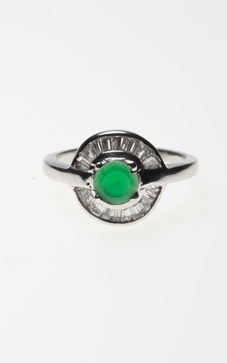 Emerald & Diamante Ring