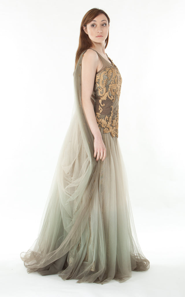 Tulle Gown Faded gown-grey