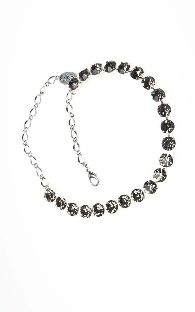 Multi stone black diamante Swarovski choker