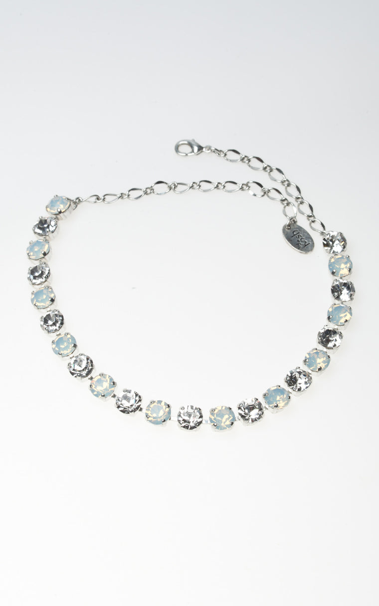 Multi stone clear and opal diamante Swarovski choker