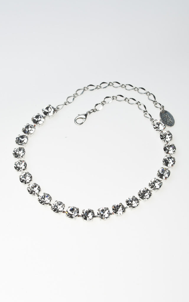 Multi stone clear diamante Swarovski choker