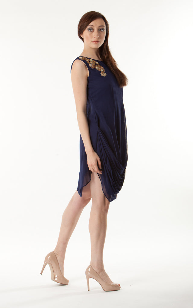One Sleeve Cowl Dress