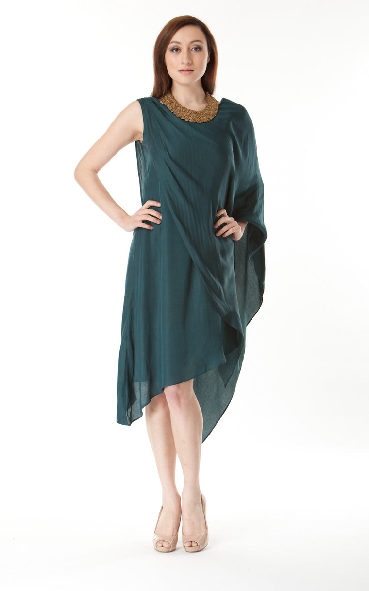 One Sleeve Jersey Dress