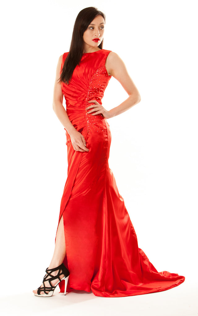 Column Style Gown