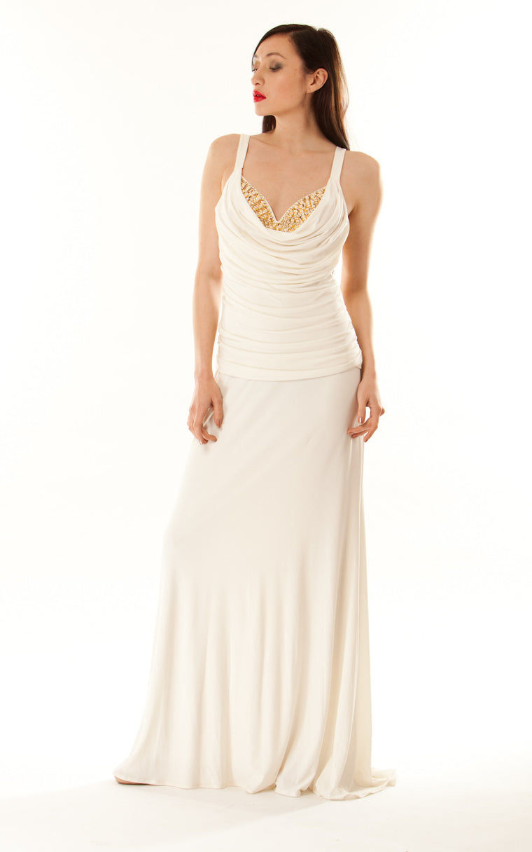 Silk Jersey Goddess Gown