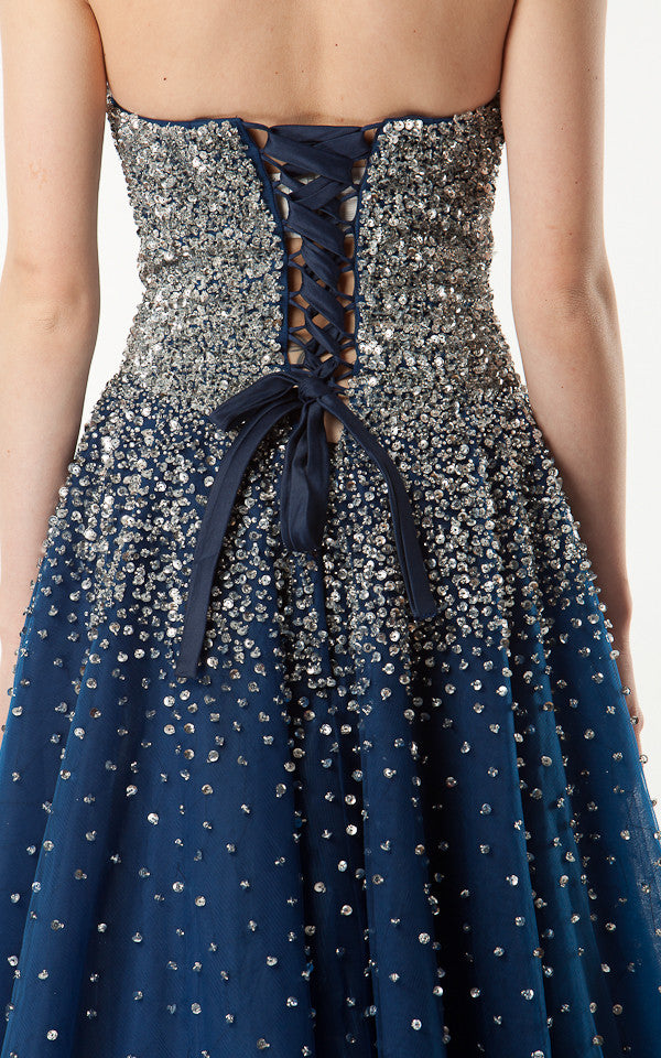 Strapless Sequinned Ball Gown