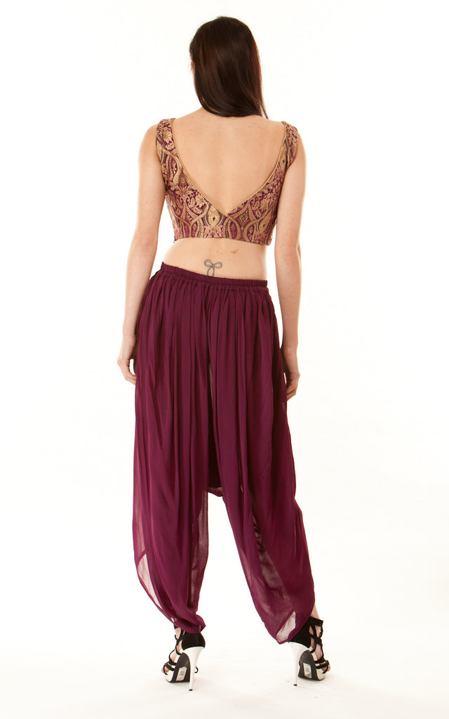 Silk Sinbad Trouser Suit