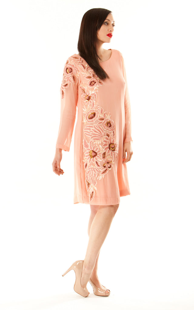 Chiffon Long Sleeved Dress