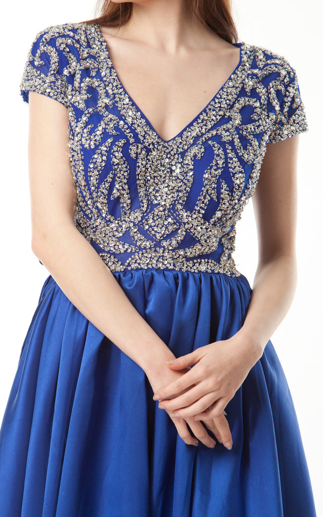 Sequinned Embellished Gown