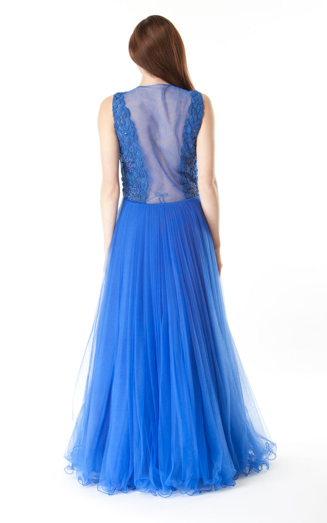 Silk and Tulle Gown