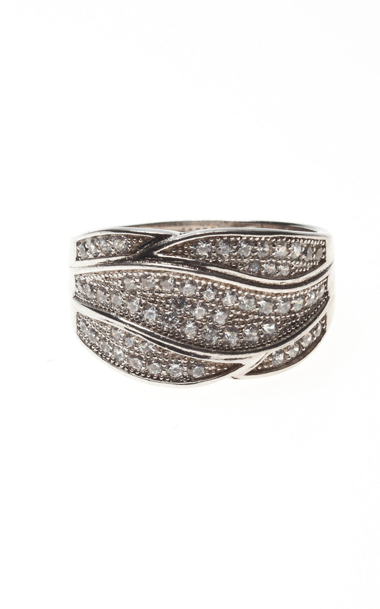 Silver Diamanté Dress Ring