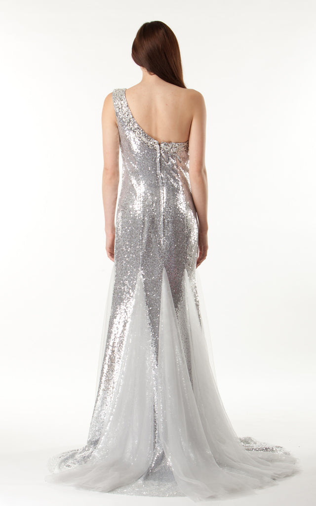 Silver Sequinned Gown