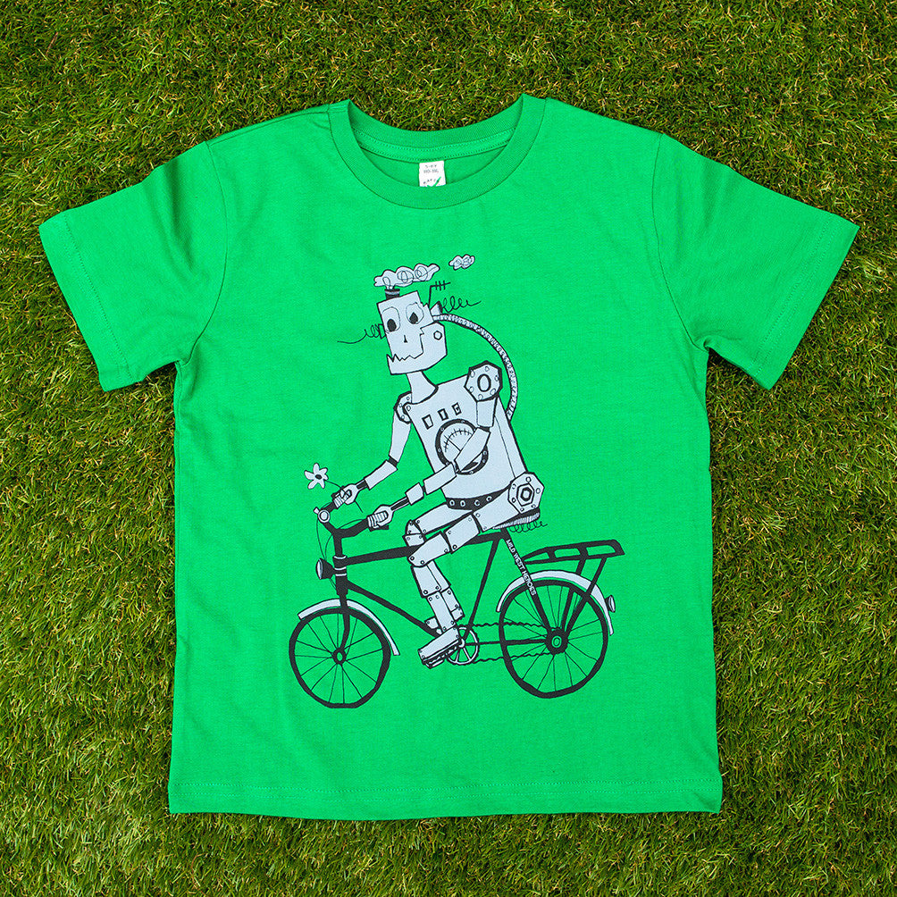 Cyclebot </br>organic cotton kids t-shirt - Mild West Heroes  - 1