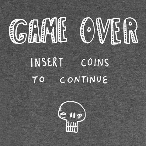Game Over <br />recycled organic cotton<br/ > t-shirt