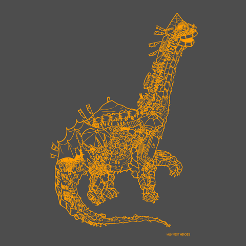 Glastosaur </br>organic cotton t-shirt
