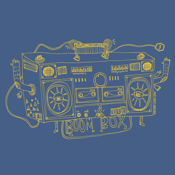 Sonic Boom Box</br>organic cotton t-shirt