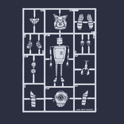 Airfix Robot </br> organic cotton t-shirt - Mild West Heroes  - 1