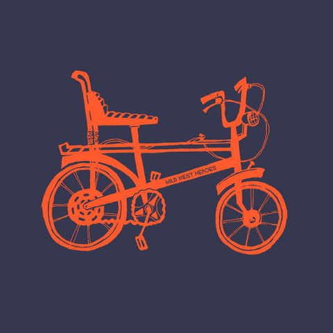 Chopper Bike </br >organic cotton t-shirt - Mild West Heroes  - 1