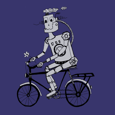 Cyclebot </br>fair wear cotton t-shirt - Mild West Heroes  - 1