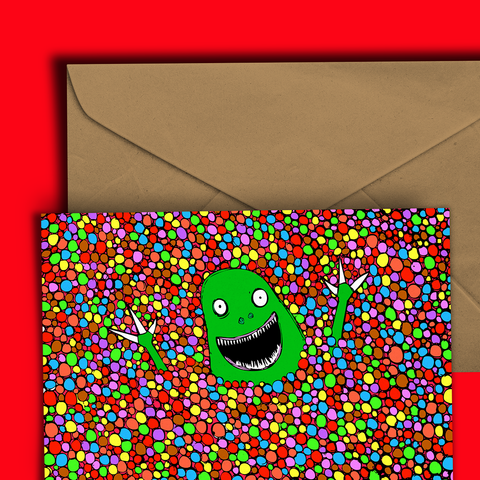 Ball Pit Zombie Greeting Card