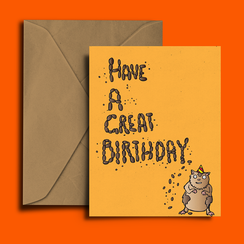Hungry Hamster Birthday Card