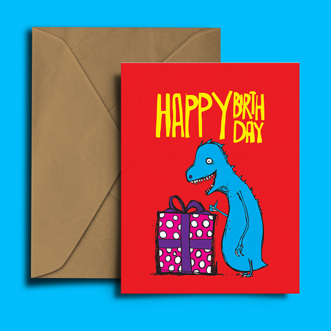 Happy Dinosaur Birthday Card