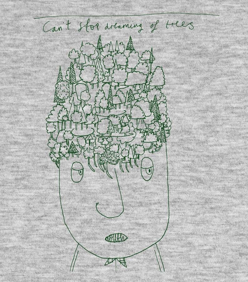 Can't Stop Dreaming Of Trees </br>organic cotton fair wear t-shirt - Mild West Heroes  - 1