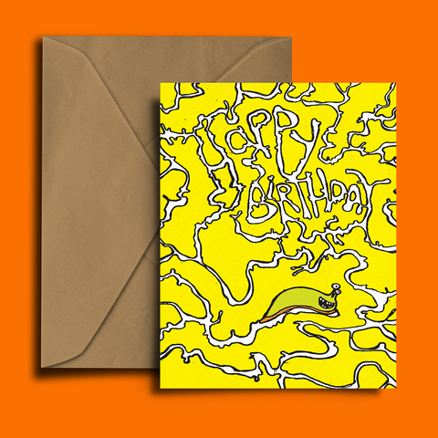 Slug Slime! Birthday Card