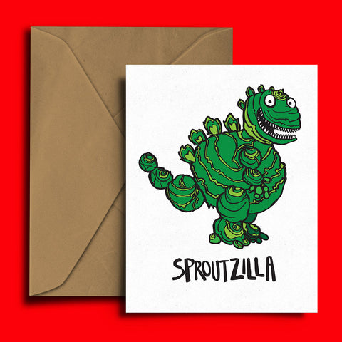 Sproutzilla Christmas Card