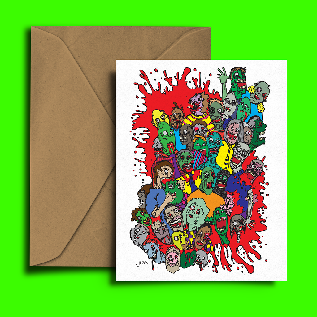 Zombie Splat Greeting Card