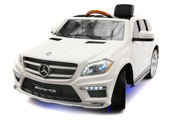 Mercedes GL63 AMG 12V Kids Ride-On Car with Parental Remote | White Metallic