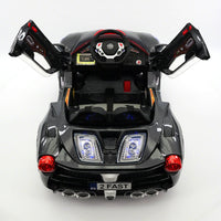 Moderno Kids Spider GT Kids 12V Ride-On Car with R/C Parental Remote | Carbon Black